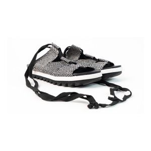 Sam Edelman Black and White Tie Up Sandals